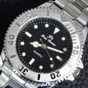 ★送料無料★必見!!重量感溢れる激シブ腕時計!!★ブラック/メンズ/ウォッチ/黒【t96】