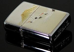 和の極み【ZIPPO】電鋳板ジッポーライター・鶴/富士