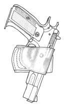 イーストA エアガン 革製シルエットホルスター ベルトスライド No.209