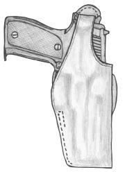 イーストA エアガン 革製シルエットホルスター サムブレイククロスタイプ No.239