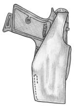 イーストA エアガン 革製シルエットホルスター サムブレイククロスタイプ No.244