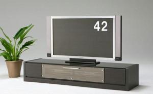 大型液晶ワイドテレビ対応♪モダンローボードテレビ台◆ブラック