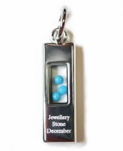 ≪Silver925≫シルバー925 バースデーストーンネックレス【12月誕生石 トルコ石】(SN0408)
