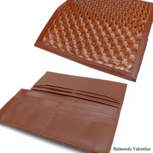 メンズメッシュ型押しプリント長財布