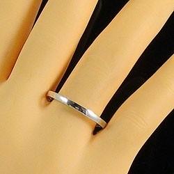 ペアリング ストレート 結婚指輪 マリッジリング ホワイトゴールドK18 指輪 送料無料 2本セット K18WG