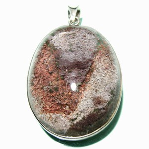 送料無料 ガーデンクォーツシルバーペンダントトップ(縦約4.3cm) 庭園水晶 天然石/パワーストーン