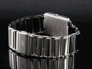 送料無料/テクノス/サファイアガラス風防/ステンレス+セラミック/スクエア型・メンズ腕時計/TSM903GB*SIL×BK【三】【M-W】