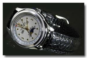 【Christiano Domani】ムーンフェイス 腕時計メンズ CD-2001-5 革ベルト