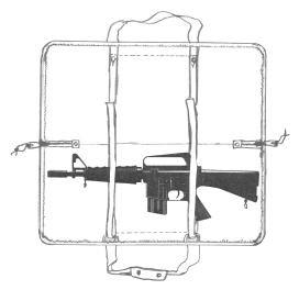 イーストA エアガン 肩掛けベルト付レザーケース No.147 A型