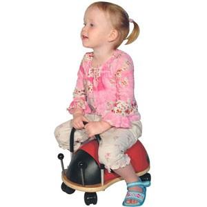送料無料かわいい木製乗り物おもちゃ パパジーノ ウィリーバグS てんとう虫■プレゼントに☆木製乗用玩具 WEB001
