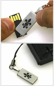 ネックレス型USBフラッシュメモリ-!(USB)