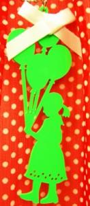 バルーン&ガール♪シルエットハンドメイドネックレス、フランス雑貨