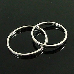 ペアリング 結婚指輪 マリッジリング ホワイトゴールドK18 指輪 送料無料 2本セット K18WG