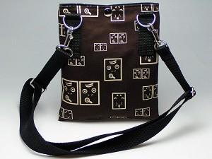 【和柄ウエストバッグ】携帯用外ポケットがかっこいい。モダンな和柄が洒落た2way和柄メンズレディースポシェットバッグ。(色K026)