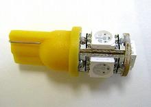 T10 3chipSMD5連 LEDウエッジバルブ オレンジ 2個set ポジション・ライセンス・カーテシに