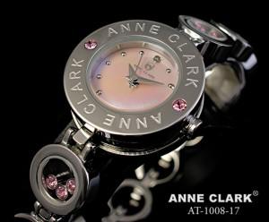 アンクラーク 腕時計 レディース チャームブレス ダイヤモンド シルバー ピンクシェル AT1008-17 時計 ウォッチ