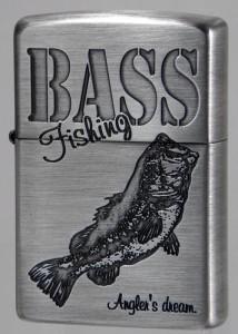 釣りファン必見【ZIPPO】釣り道ジッポー ブラックバス BASS