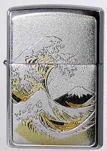 和の極み【ZIPPO】和板ジッポーライター・波/富士