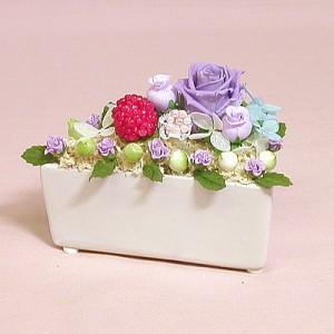【プリザーブドフラワー】色が選べるショートケーキ 誕生日