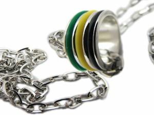 3ラインリング ネックレス★ジャマイカ