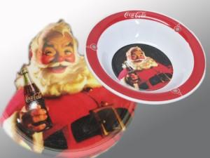 ファニーグッズ【コカコーラCoca-Cola】サンタ柄ボール/食器・皿