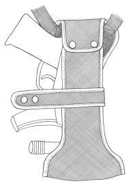 イーストA エアガン ハイパーホルスター ショルダー No.351 BK