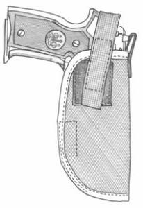 イーストA エアガン ハイパーホルスター ヒップ No.144 BK