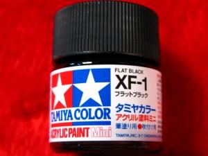 ■遠州屋■ タミヤカラー(XF-1) フラットブラック アクリル塗料ミニ (市)♪