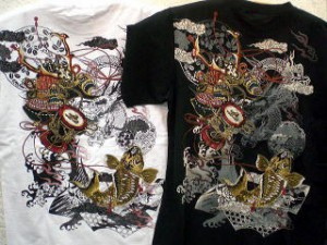 華鳥風月 半袖Tシャツ 兜鯉刺繍