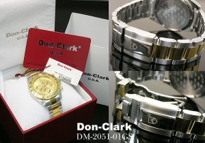 DONCLARK*ダンクラーク天然ダイヤモンド入りメンズ腕時計(ウォッチ)DM2051-01GS 送料無料