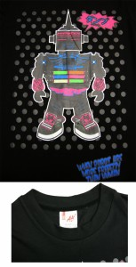 sale!激安値下げ\980!大胆パワフルカラーのカジュアルポップなロボットプリントTシャツ☆DUMPE FRESH