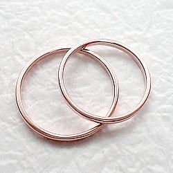 ペアリング 結婚指輪 マリッジリング ピンクゴールドK18 指輪 送料無料 2本セット K18PG