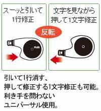 文房具:修正テープ/ホワイパーフレックス【プラス】
