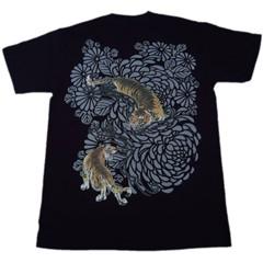 和柄むかしむかしTシャツ 菊虎