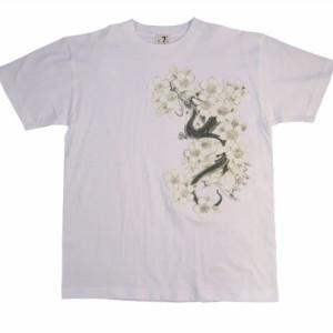 和柄むかしむかしTシャツ 桜龍