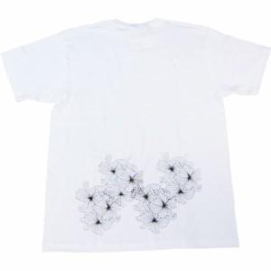 和柄むかしむかしTシャツ 破菊
