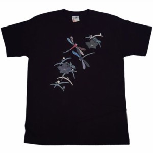 和柄むかしむかしTシャツ 桔梗蜻蛉