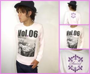 【在庫一掃セール】転写&ロゴプリントロングTee(型番910d2043)【ピンク】