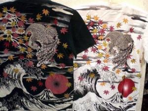 INFINITY インフィニティ 半袖和柄Tシャツ 紅葉と鳳凰刺繍