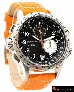 送料無料 ハミルトン 腕時計 カーキ H77612933 黒×橙