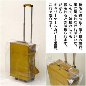 キャリーバッグカバー≪小型から中型用≫ 【メール便配送で送料無料】