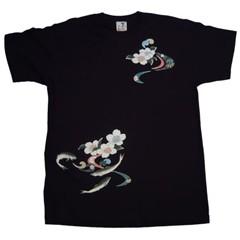 和柄むかしむかしTシャツ 鮎桜