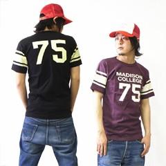 オールドスクール フットボールTシャツ (OLD SCHOOL FOOT BALL Tee MADISON COLLEGE 75)
