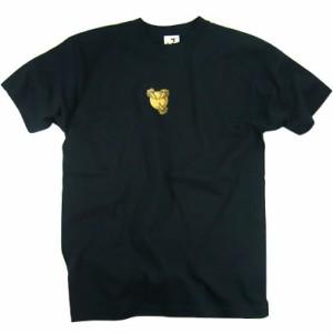 和柄むかしむかしTシャツ 金箔押し竜虎