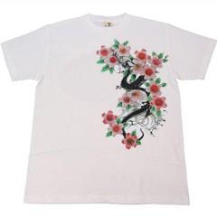 和柄むかしむかしTシャツ 桜花龍