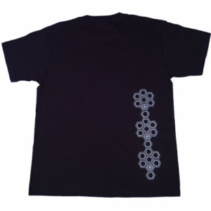 和柄むかしむかしTシャツ 六角文様