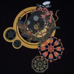 和柄むかしむかしTシャツ 鯉と金太郎