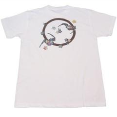 和柄むかしむかしTシャツ 丸紋蝙蝠