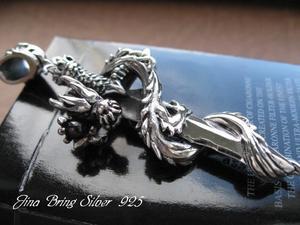 【送料無料】最強!!伝説の剣アクセサリー■BIGドラゴン(龍)ソード(剣)■SV925PD