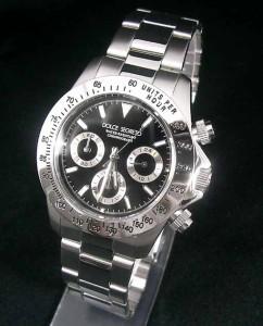 ドルチェセグレート/DOLCE SEGRETO メンズ 腕時計 クロノグラフ ブラック CG100BK